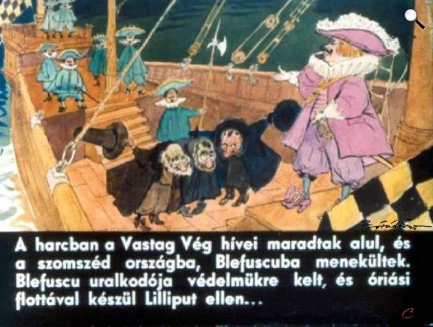 Zórád Ernő - Jonathan Swift: Gulliver Lilliputban 35. (Fotó: zoraderno.hu)