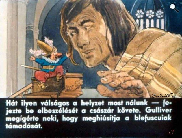 Zórád Ernő - Jonathan Swift: Gulliver Lilliputban 6. (Fotó: zoraderno.hu)