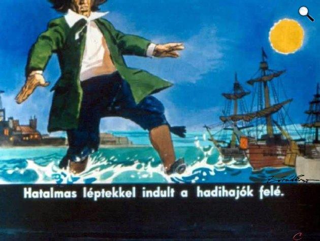 Zórád Ernő - Jonathan Swift: Gulliver Lilliputban 38. (Fotó: zoraderno.hu)