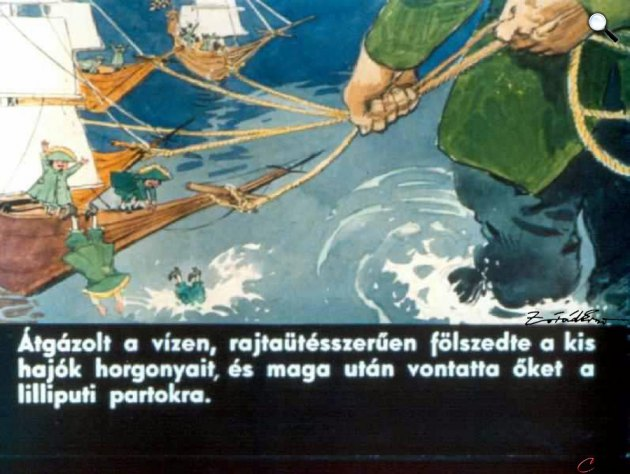 Zórád Ernő - Jonathan Swift: Gulliver Lilliputban 39. (Fotó: zoraderno.hu)