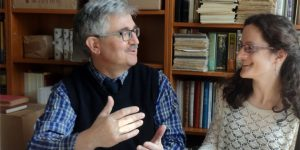 Dormán Júlia pszichológus és Kiss Gábor lexikográfus (Fotó: Tinta Kiadó)