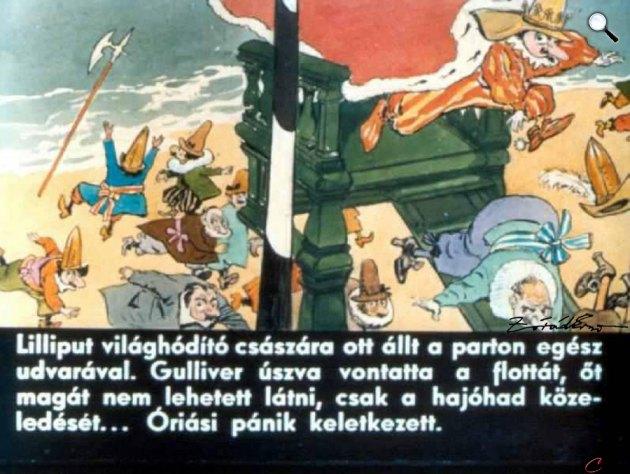 Zórád Ernő - Jonathan Swift: Gulliver Lilliputban 40. (Fotó: zoraderno.hu)