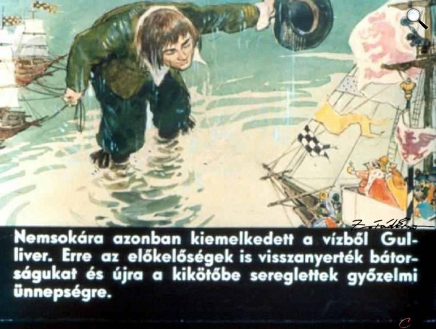 Zórád Ernő - Jonathan Swift: Gulliver Lilliputban 41. (Fotó: zoraderno.hu)