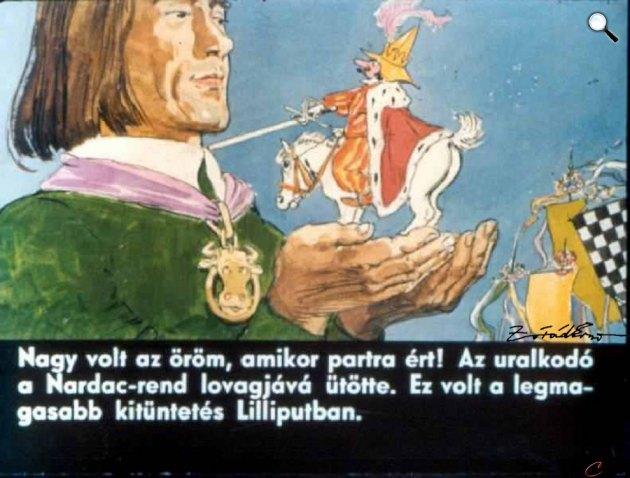 Zórád Ernő - Jonathan Swift: Gulliver Lilliputban 42. (Fotó: zoraderno.hu)
