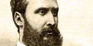 Eötvös Loránd portréja. Morelli Gusztáv metszete, 1889 (Fotó: OSZK)