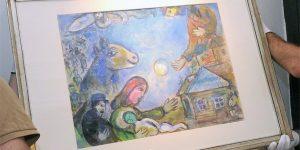 Marc Chagall: Kék falu (MTI Fotó: Lendvai Péter)