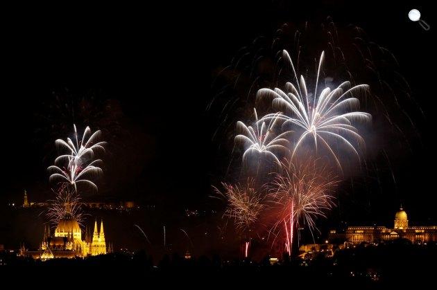 Augusztus 20-i tűzijátékv Budapesten (MTI Fotó)