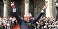 Göncz Árpád köztársasági elnök Budapest, Parlament 1990. augusztus 3. (MTI Fotó: Cseke Csilla)