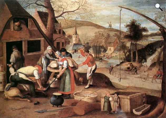 Pieter Brueghel ifjabb: Ősz (Fotó: Wikiart)