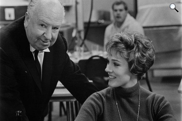 Szakadt függöny forgatása, Alfred Hitchcock és Julie Andrews, 1966 (Fotó: listal.com)