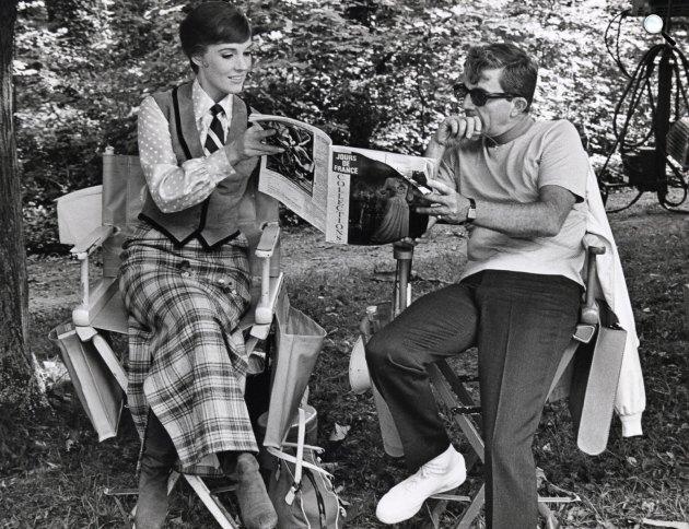 Lili drága forgarásán Julie Andrews és rendező férje, Blake Edwards, 1968 (Fotó: listal.com)