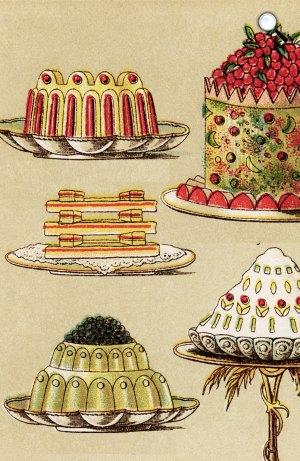 Sütemények, torták, édesség (illusztráció)