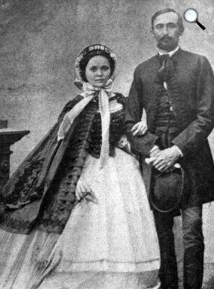 Tisza Kálmán és felesége, Degenfeld-Schonburg Ilona, 1860-as évek (Fotó: Vasárnapi Ujság/OSZK)