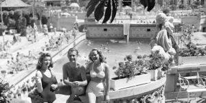 Szent Gellért Gyógyfürdő, 1943 (Fotó: Fortepan)