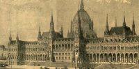 Az uj országház, Steindl Imre terve alapján, 1888 (Fotó: Vasárnapi Ujság / OSZK)