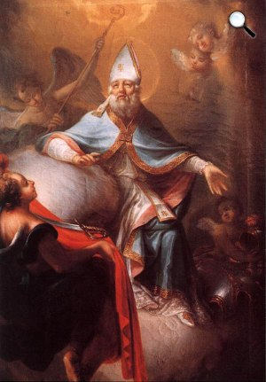Dorffmaister István: Szent Márton a dicsőség fényében (Fotó: OSZK)
