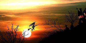 Boszorkány a naplementében