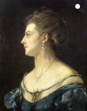 Madarász Viktor: Felesége portréja, 1871 (Fotó: MNG)