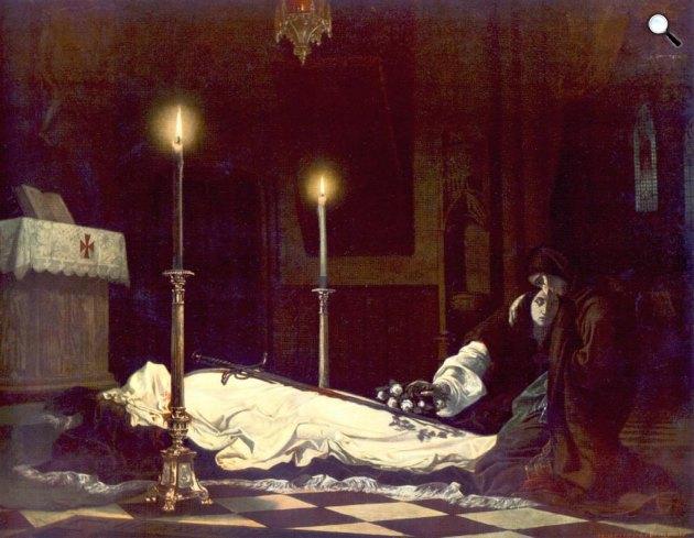 Madarász Viktor: Hunyadi László siratása, 1859 (Fotó: MNG)
