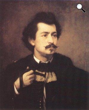 Madarász Viktor: Önarckép, 1863 (Fotó: MNG)