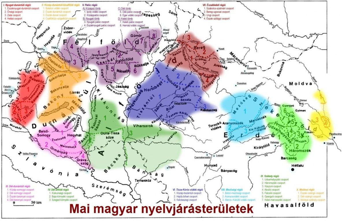 nyelvjárások térkép A nyelvjárási beszédet teljes egészében visszahozni nem lehet