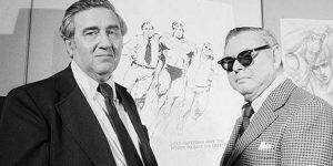 Jerry Siegel képregényíró és  Joe Shuster képregény-rajzoló (Fotó: Wikipédia)