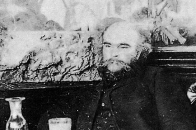 Paul Verlaine a Café François-ban, 1892 (Fotó: M. Dornac, Carnavalet Museum)