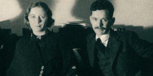 József Attila és Szántó Judit (Szántó Gyuláné Ludman Judit), 1935 (Fotó: PIM)