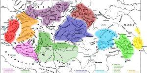 Mai magyar nyelvjárások térkép (Fotó: TINTA Kiadó)