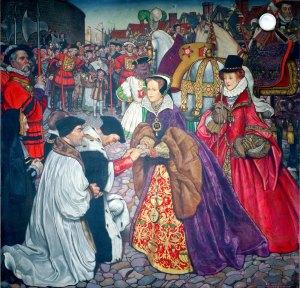Byam Shaw: I. Mária angol királynő és Erzsébet hercegnő Londonban 1553-ban (Fotó: Wikipédia)
