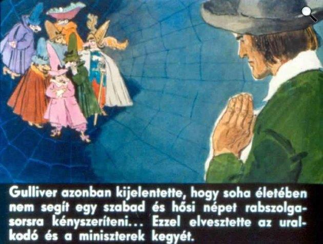 Zórád Ernő - Jonathan Swift: Gulliver Lilliputban 44. (Fotó: zoraderno.hu)