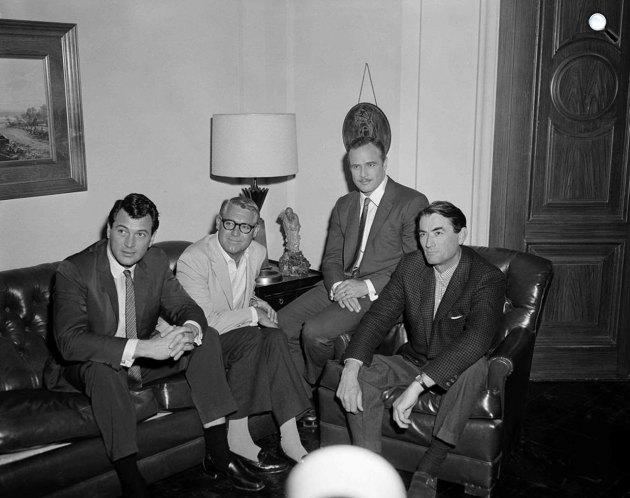 Rock Hudson, Cary Grant, Marlon Brando és Gregory Peck (listal.com/APphoto)