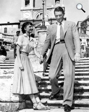 Római vakáció - Gregory Peck és Audrey Hepburn, 1953 (Fotó: listal.com)