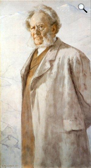 Erik Werenskiold: Henrik Ibsen, 1895 (Fotó: ibsen.nb.no)