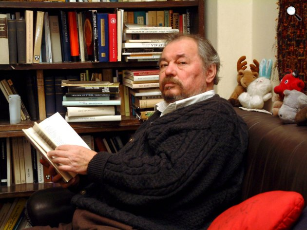 Lázár Ervin Kossuth-díjas író budapesti otthonában (MTI Fotó: Czimbal Gyula)
