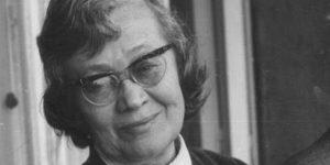 Károlyi Amy, költő, műfordító. Weöres Sándor felesége  (Fotó: OSZK)