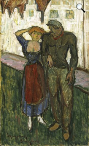 Egry József: Szerelmesek, 1911 (Fotó: Kogart)