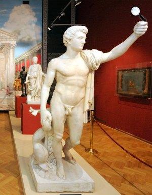 Pompeji - Élet és halál a Vezúv árnyékában-kiállítás, Móra Ferenc Múzeum, Szeged (MTI Fotó: Kelemen Zoltán Gergely)