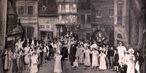 A garasos kisasszony előadása a Magyar Színházban, 1898 (Fotó: Erdélyi/OSZK)