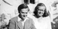 Weöres Sándor (1913-1989) költő és Károlyi Amy (1909-2003) költő (Fotó: PIM)