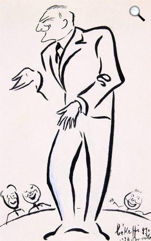Békeffi György: Békeffi László karikatúrája 1938-ból (Fotó: OSZK)
