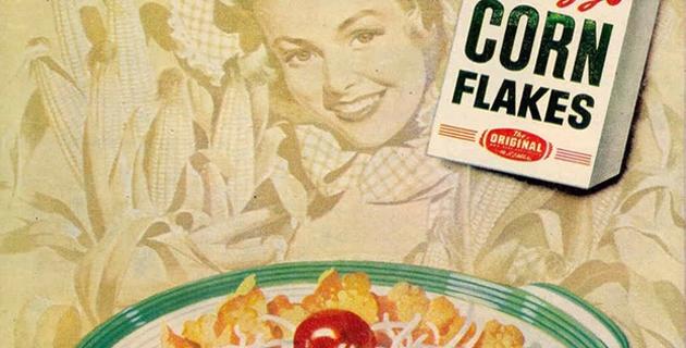 Corn flakes az asztalon