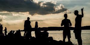 Strand és a B.my.Lake fesztivál Zamárdi, Balaton (MTI Fotó: Balogh Zoltán)
