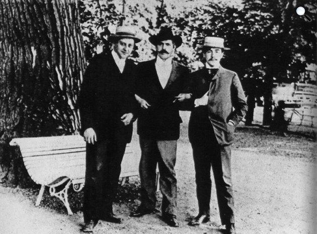 Heltai Jenő, Bródy Sándor és Makai Emil (Fotó: monty.blog.hu)
