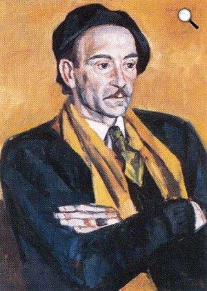 Szentgyörgyi Kornél: Jékely Zoltán portréja (Fotó: OSZK)