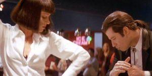 Ponyvaregény (Pulp Fiiction), Uma Thurman és John Travolta, 1994 (Fotó: listal.com)