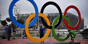 Rio 2016, az olimpiai öt karika, Rio de Janeio, Brazília  (MTI Fotó: Czeglédi Zsolt)