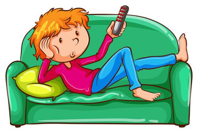 Lusta, unatkozik, tévézik (Fotó: pixabay.com)