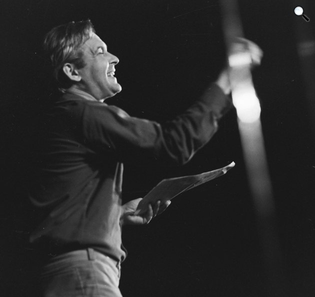 Latinovits Zoltán színművész az Egyetemi Színpadon, 1973 (Fotó: Fortepan)