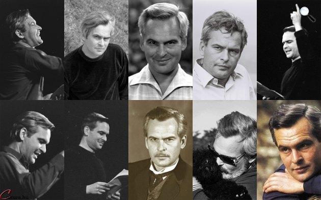 Latinovits Zoltán színművész, író (1931-1976) fotómontázs (Fotók: Fortepan, OSZK, Inkey Alice, Noran Libro, Cultura.hu)